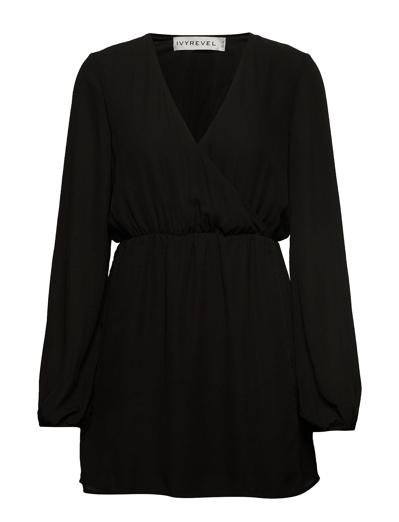 Ivyrevel BALLOON SLEEVE DRESS - BLACK
