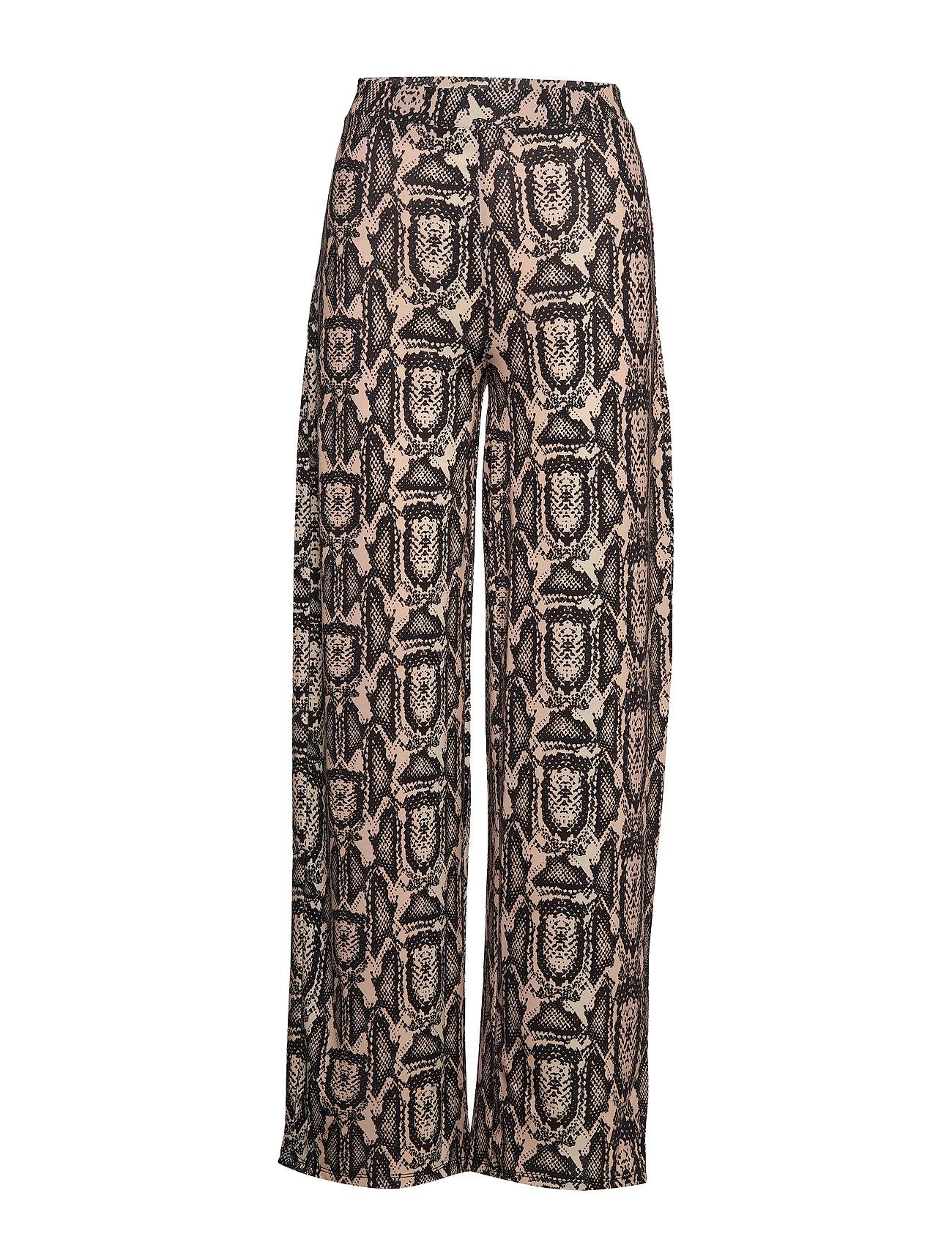 Ivyrevel SHINY WIDE LEG PANTS - BEIGE SNAKE
