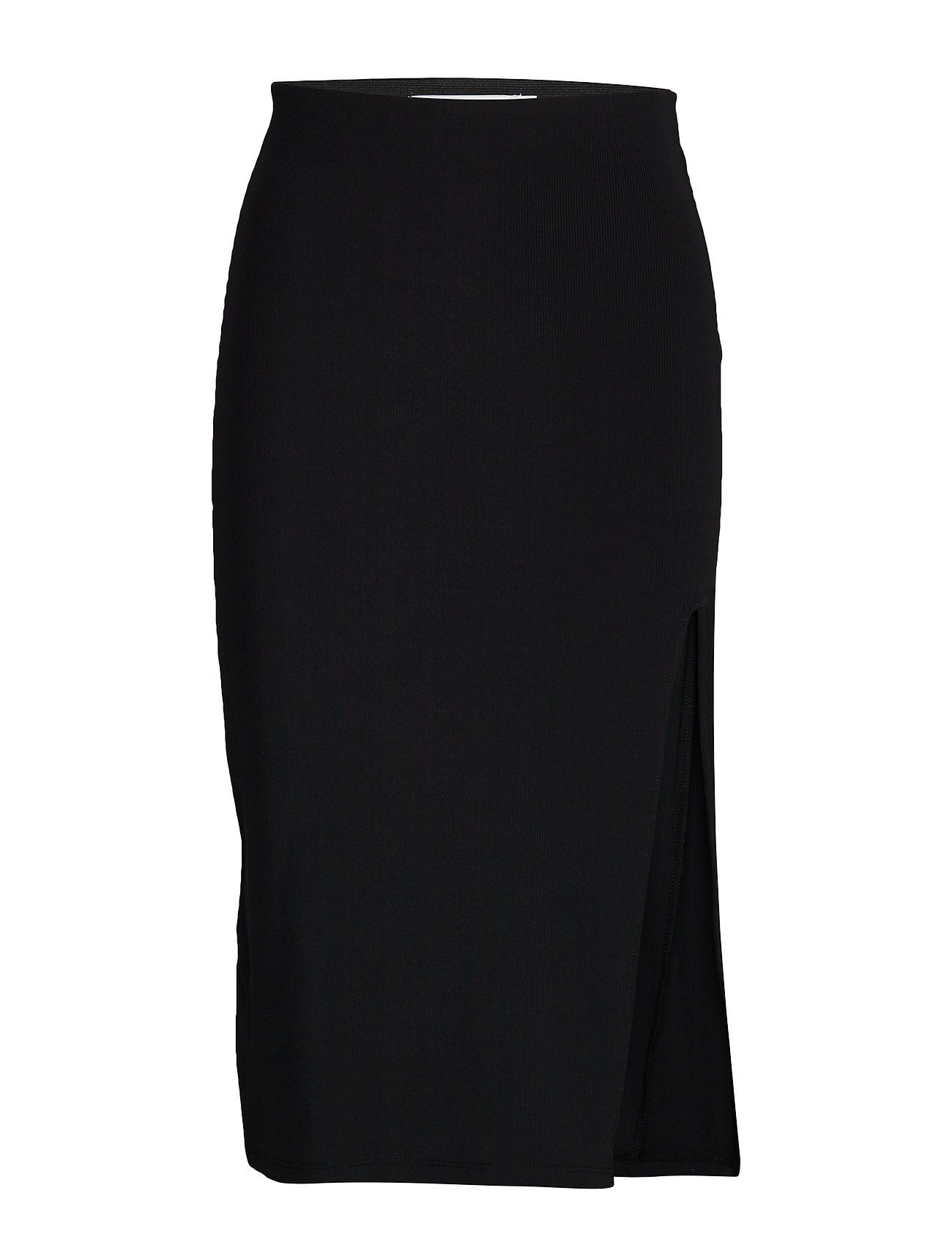 Ivyrevel RIB SLIT SKIRT - BLACK