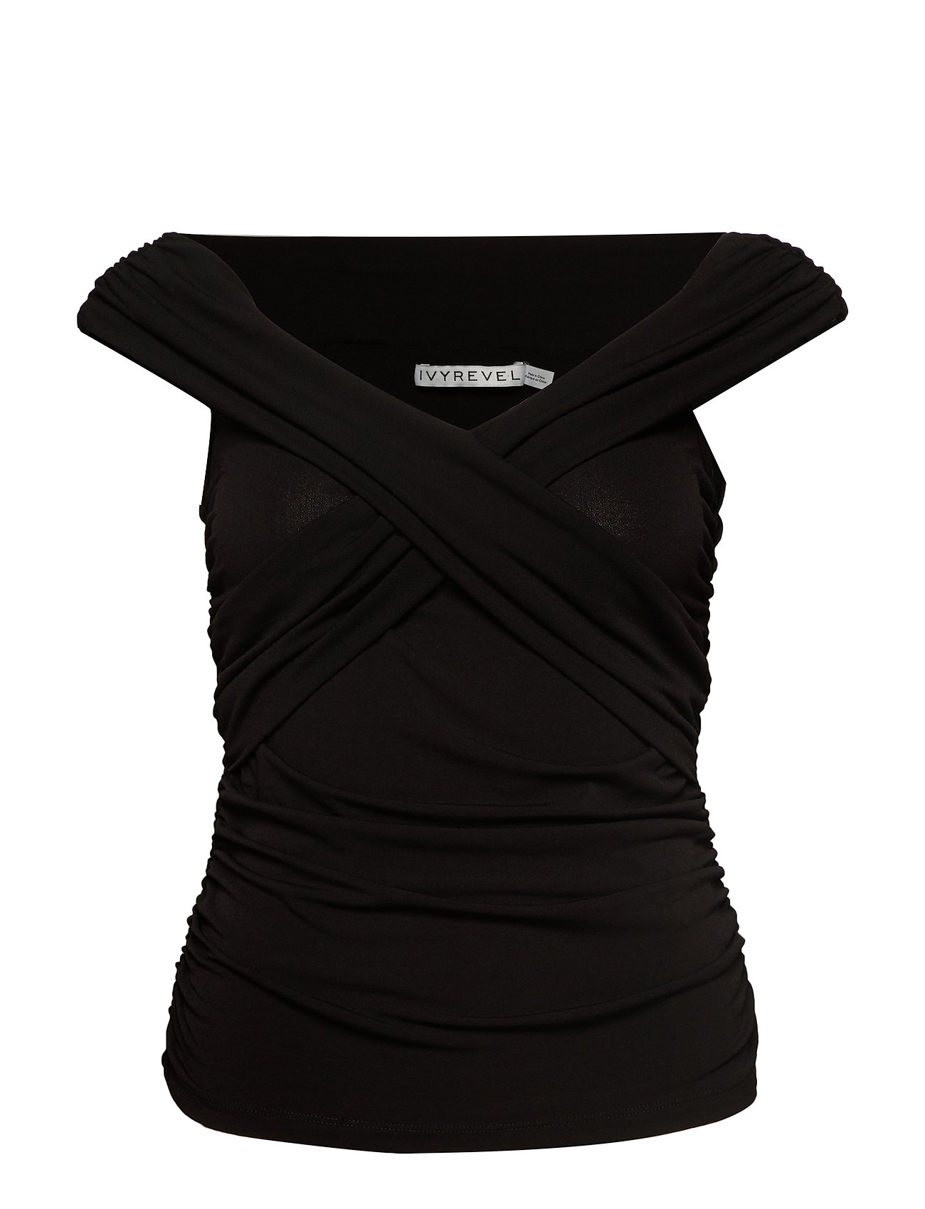 Ivyrevel CROSS FRONT TOP - BLACK
