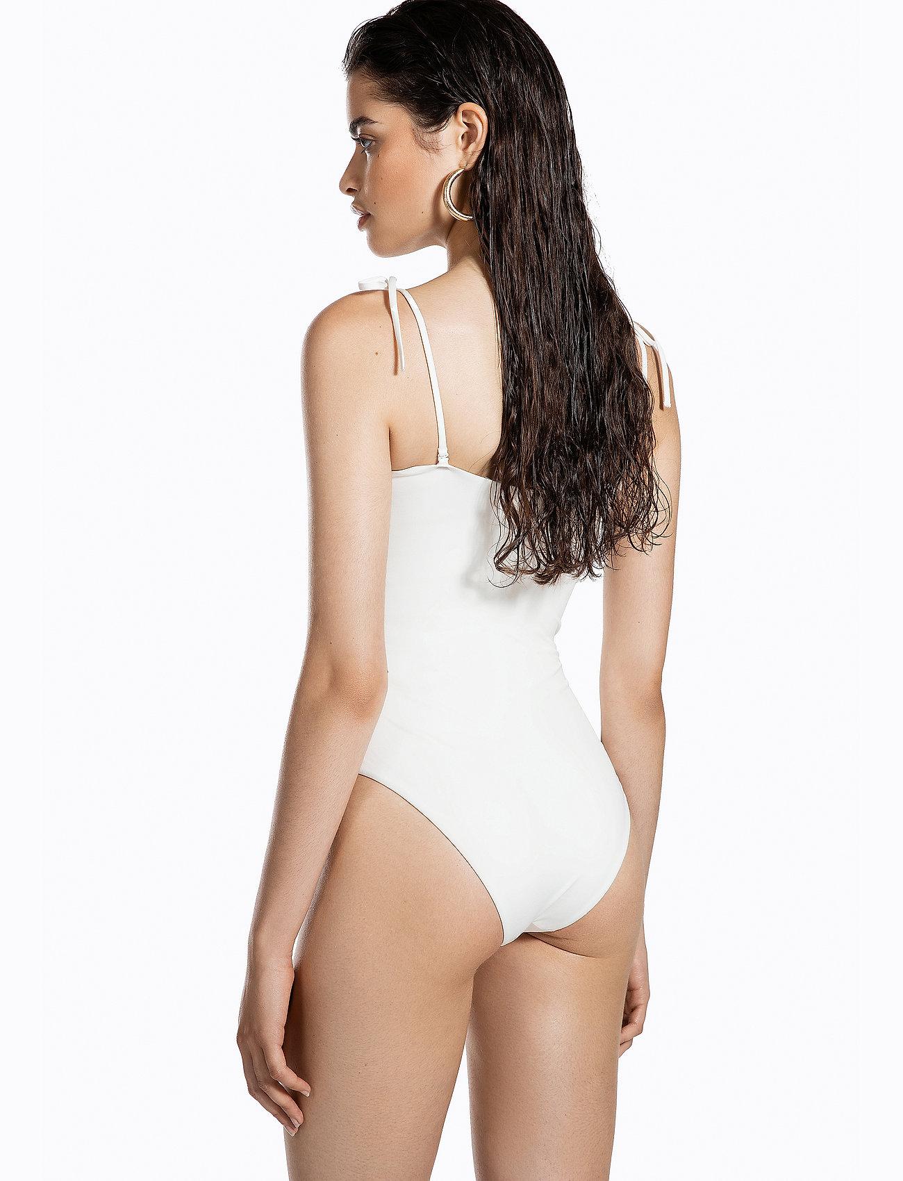 Ivyrevel STRAIGHT NECKLINE SWIMSUIT - Stroje kąpielow OFF WHITE - Kobiety Odzież.