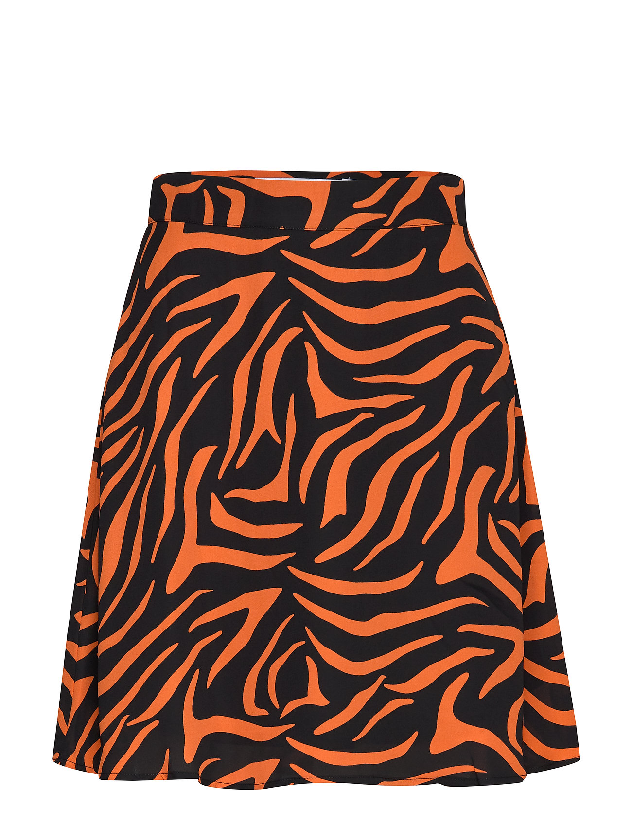 Ivyrevel A LINE MINI SKIRT - BLACK/ORANGE ZEBRA