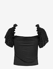 Ivyrevel - MESH SLEEVE TOP - blouses à manches courtes - black - 1