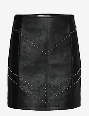 Ivyrevel - STUDDED PU MINI SKIRT - jupes courtes - black - 0