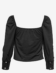 Ivyrevel - SQUARE NECK PUFF BLOUSE - blouses à manches longues - black - 1