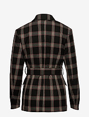 Ivyrevel - CHECK SHOULDERPAD BLAZER - getailleerde blazers - black check - 1