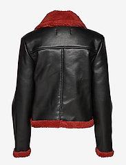 Ivyrevel - TEDDY JACKET - nahkatakit - black/burnt red - 3
