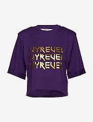 Ivyrevel - CROPPED IVY TSHIRT - crop tops - purple - 0