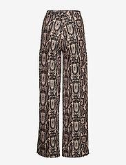 Ivyrevel - SHINY WIDE LEG PANTS - pantalons larges - beige snake - 1