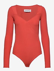 Ivyrevel - TIGHT PLUNGE BODY - body - burnt red - 0
