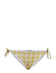 Tie Side Bikini Bottom - YELLOW/WHITE PEPITA PRINT