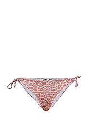 Tie Side Bikini Bottom - LIGHT PINK/WHITE CROCO PRINT +LIGHT PINK
