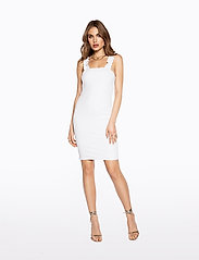 Ivyrevel - FRILL SHOULDER RIB DRESS - lyhyet mekot - cold white - 0