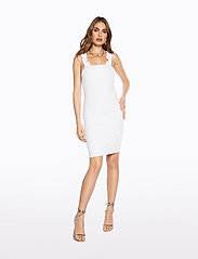 Ivyrevel - FRILL SHOULDER RIB DRESS - lyhyet mekot - cold white - 5