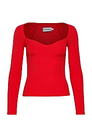 HEART SHAPED TOP - RED