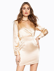 Ivyrevel - V NECK DRAPY DRESS - lyhyet mekot - gold - 0