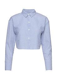 Cropped Shirt - BLUE MIX