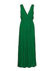 Maxi Dress With Slit - VERDANT GREEN