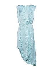Assymetric Dress - LIGHT BLUE CROCO PRINT