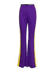 Side Panel Flared Pants - PURPLE