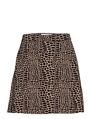 A LINE MINI SKIRT - CROCO PRINT