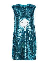 SEQUIN MINI DRESS - LIGHT BLUE