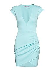 V Neck Wrap Dress - LIGHT BLUE