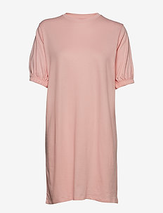 Puff Sleeve Ivy Tshirt Dress - LIGHT PINK