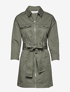 UTILITY TWILL DRESS - trenchs - fern