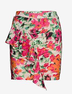 DRAPED FRILL MINI SKIRT - korte nederdele - blurred floral
