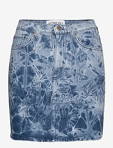 DENIM MINI SKIRT - jupes en jeans - blue acid wash