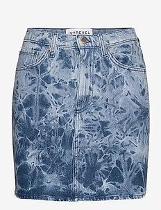 DENIM MINI SKIRT - jeansowe spódnice - blue acid wash
