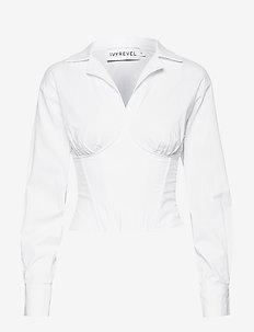 CORSET SHIRT - chemises à manches longues - white