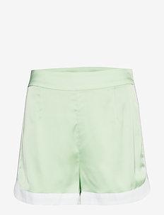 Curved Hem Shorts - PASTEL GREEN