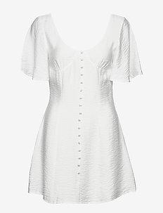 BUTTON UP CORSET DRESS - krótkie sukienki - white