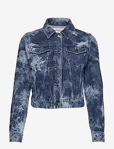 ACID WASH DENIM JACKET - kurtki dżinsowe - blue acid wash