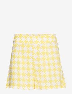 Woven Shorts - YELLOW PEPITA PRINT