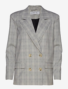 CHECKED BLAZER - vestes tailleur - grey check