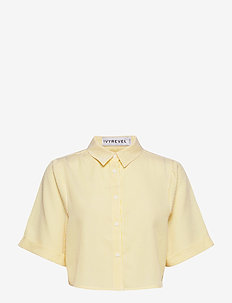 CROPPED BOXY SHIRT - chemises à manches courtes - yellow stripe