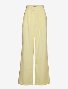 HIGH WAISTED PANTS - pantalons larges - yellow stripe