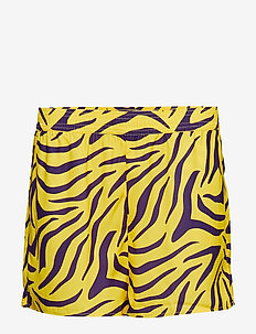 High Waist Shorts - casual shorts - purple/yellow