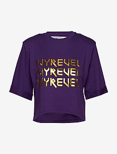 CROPPED IVY TSHIRT - crop tops - purple