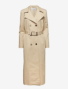 TWILL TRENCH COAT - trencze - beige