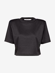 BOXY SPORT MESH TOP - navel shirts - black