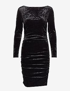 VELVET MINI DRESS - BLACK