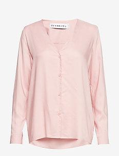 BUTTON UP SHIRT - blouses à manches longues - blush
