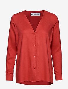 BUTTON UP SHIRT - blouses à manches longues - burnt red