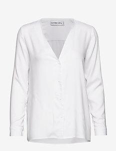 BUTTON UP SHIRT - blouses à manches longues - white