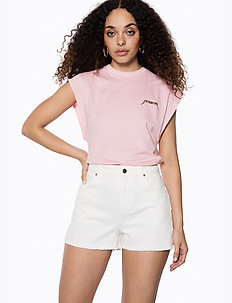 Raw Edge Denim Shorts - short en jeans - white