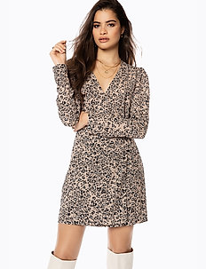 WOVEN WRAP MINI DRESS - wrap dresses - animal hearts